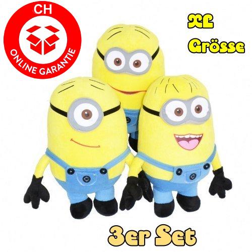 Minions 50cm 3er Minion Set Geschenk XL Fan Kind Kinder Spielzeuge & Basteln