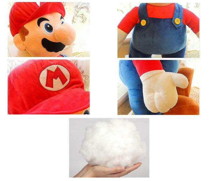 Nintendo Super Mario XXL Plüsch Figur Plüschtier Geschenk Kuscheltier Plüschfigur Kult Klempner Spielzeuge & Basteln 2