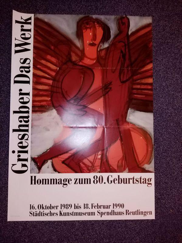 Orginal Plakat 1989 Hap Grieshaber Hommage