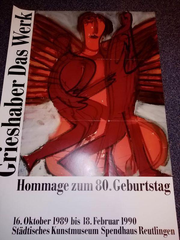 Orginal Plakat 1989 Hap Grieshaber Hommage Sammeln 2