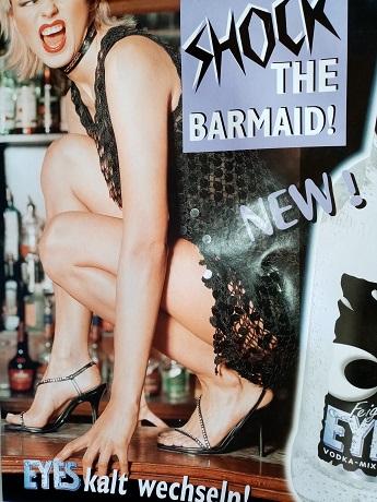 Orginal Plakat  Shock the barmaid Sammeln 2