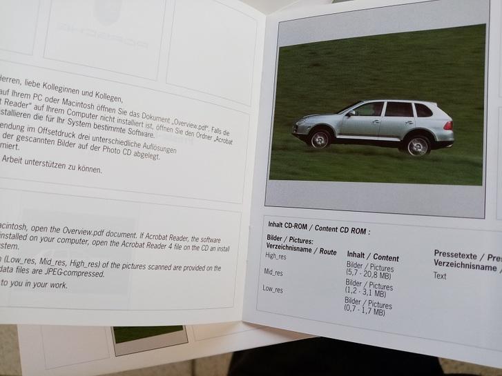 Orginal Porsche Presse Booklet  Cayenne 1. Generation Antiquitaeten