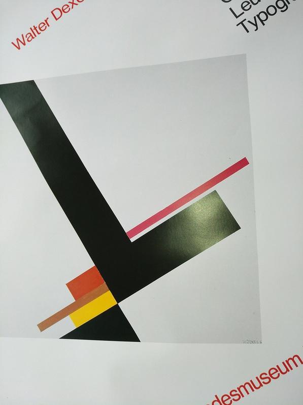 Plakat  1979 zeitgenössische Bauhaus Kunst  Dexel Top Antiquitaeten