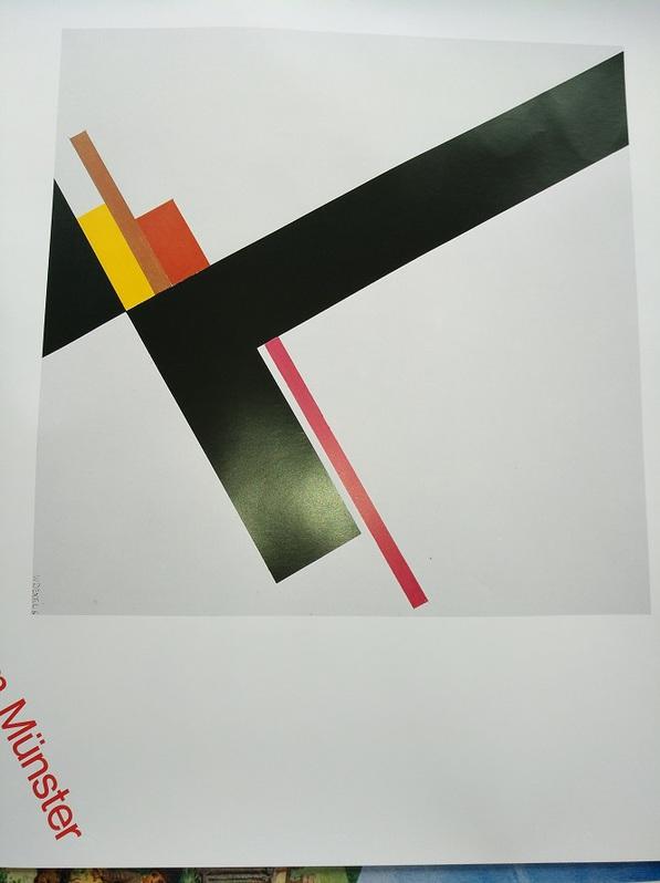 Plakat  1979 zeitgenössische Bauhaus Kunst  Dexel Top Antiquitaeten 4