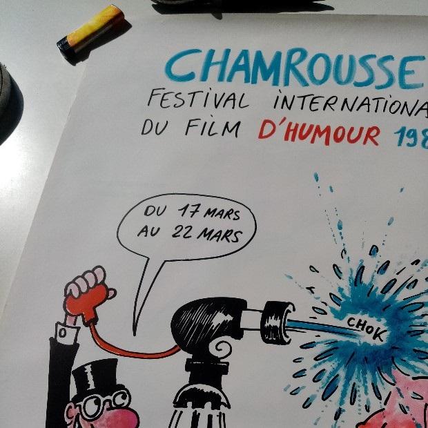 Plakat 1980  Chamrousse Filmfestival  Wolinski Erotik Antiquitaeten