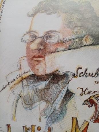 Plakat 1986 Schubertiade  Dittrich Bad Urach Antiquitaeten