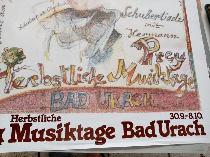 Plakat 1986 Schubertiade  Dittrich Bad Urach Antiquitaeten 2