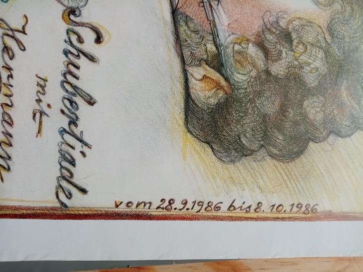Plakat 1986 Schubertiade  Dittrich Bad Urach Antiquitaeten 4