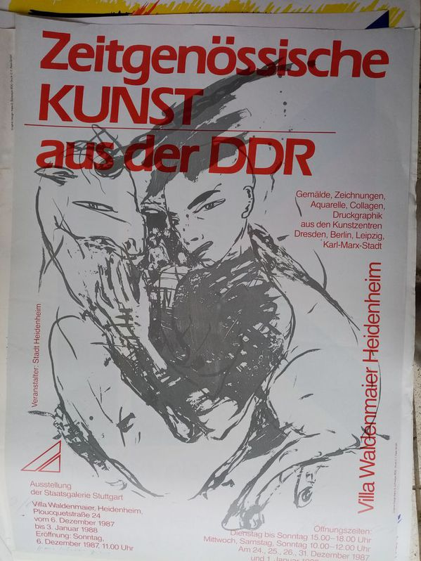 Plakat 1987 DDR zeitgenössische Maler im Westen Sammeln 2