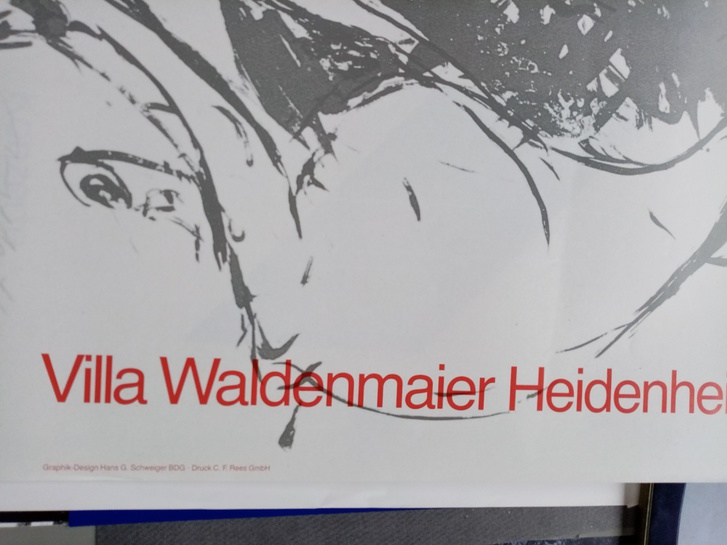 Plakat 1987 DDR zeitgenössische Maler im Westen Sammeln 4