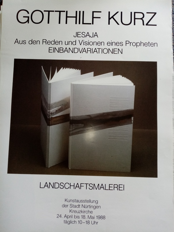 Plakat Gotthilf Kurz Nürtingen 1988 Antiquitaeten