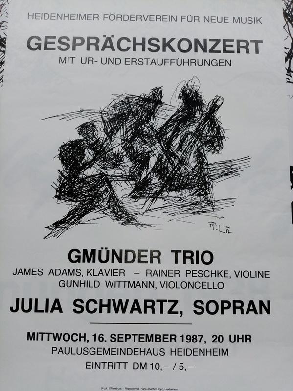 Plakat zeitgenössische Kunst 1987 in Heidenheim Sammeln
