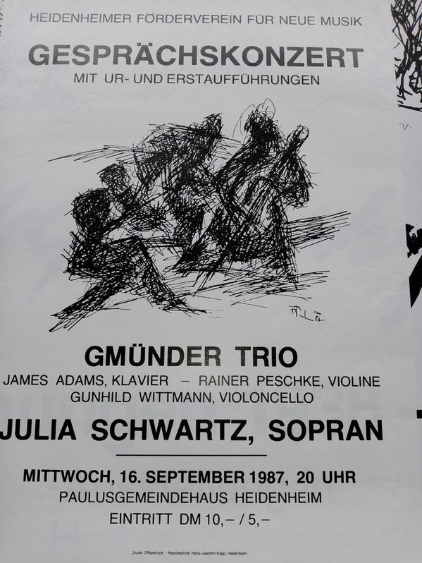 Plakat zeitgenössische Kunst 1987 in Heidenheim Sammeln 2