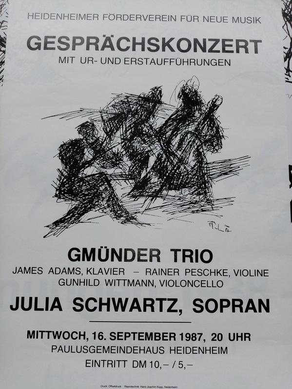 Plakat zeitgenössische Kunst 1987 in Heidenheim Sammeln 3