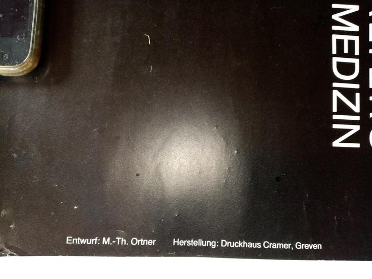 Plakat zur Ausstellung 1983 Münster  Skelette Skulls Antiquitaeten 3