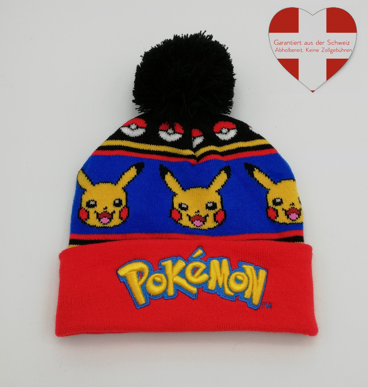 Pokemon Pokémon Pikachu Beanie Cap Mütze Kappe Winter Fan