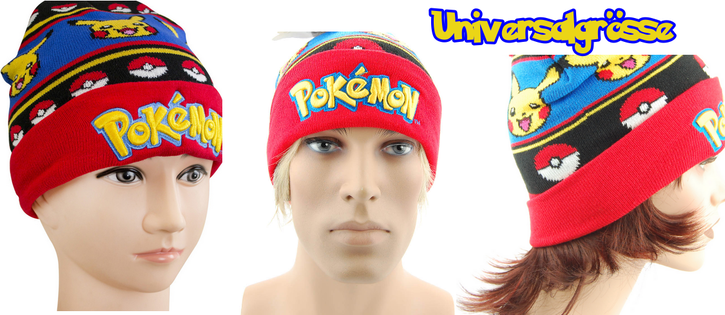 Pokemon Pokémon Pikachu Beanie Cap Mütze Kappe Winter Fan Kleidung & Accessoires 2