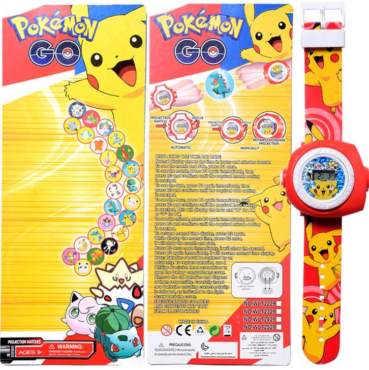 Pokémon Go Pikachu Projektor Armband Uhr Uhr Armbanduhr Geschenk Fan Pokemon Kind Kinder Baby & Kind