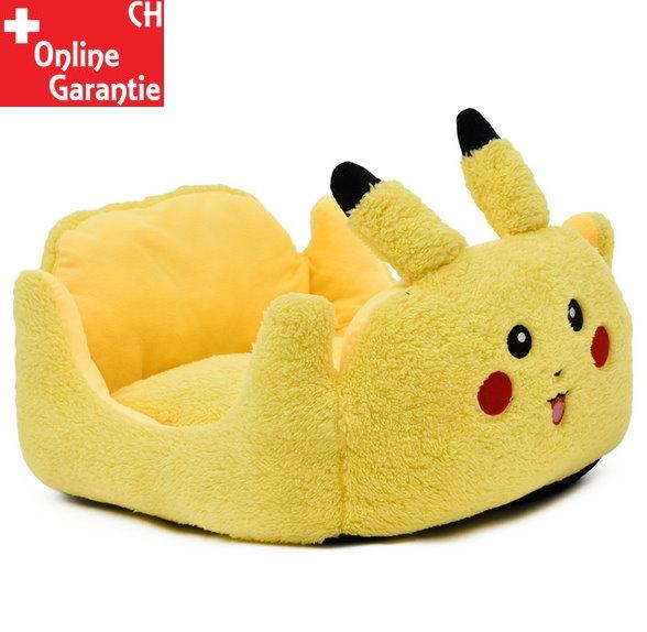 Pokémon Pikachu Katze Katzenbett Schlafplatz Hunde Hundebett Tierbett Tier Bett Schlafplatz Gelb Fanartikel Accessoire Tiere