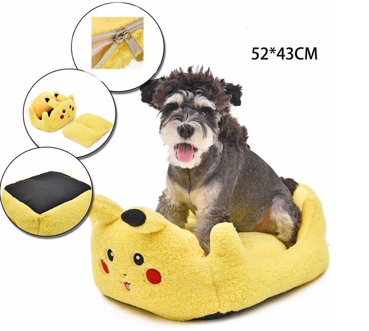 Pokémon Pikachu Katze Katzenbett Schlafplatz Hunde Hundebett Tierbett Tier Bett Schlafplatz Gelb Fanartikel Accessoire Tiere 2