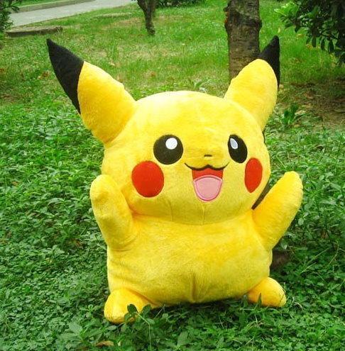 Pokémon Pikachu Plüschfigur Plüschtier Geschenk Kind Frau Freundin 80cm XL XXL Poké  Spielzeuge & Basteln