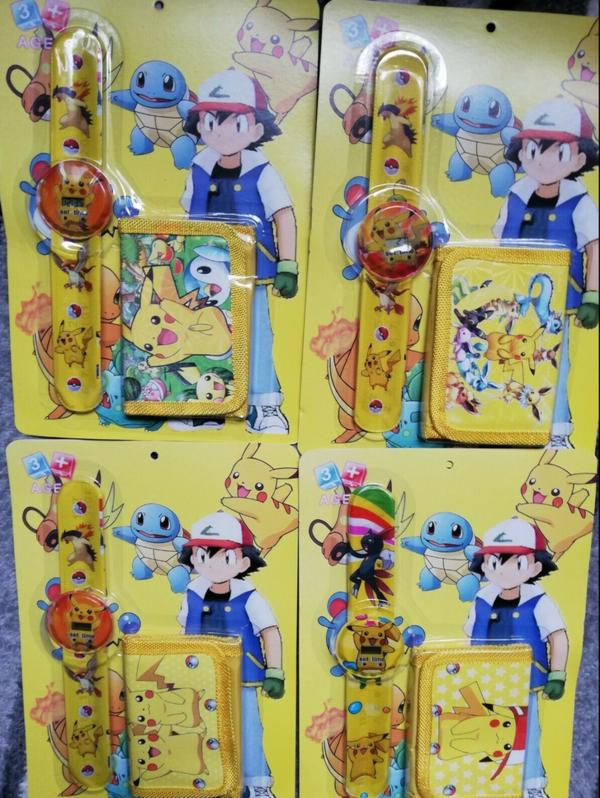 Pokémon Pikachu Pokemon Fan Armbanduhr Kinder Uhr Geldbörse Portemonnaie Geldsack Baby & Kind