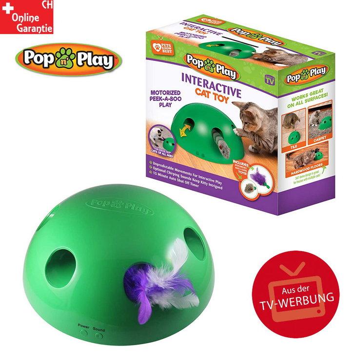 Pop' N Play Katzen Spielzeug Katzenspielzeug Indoor Zuhause Katze Feder Maus Spielzeug Unterhaltung TV Werbung Tiere