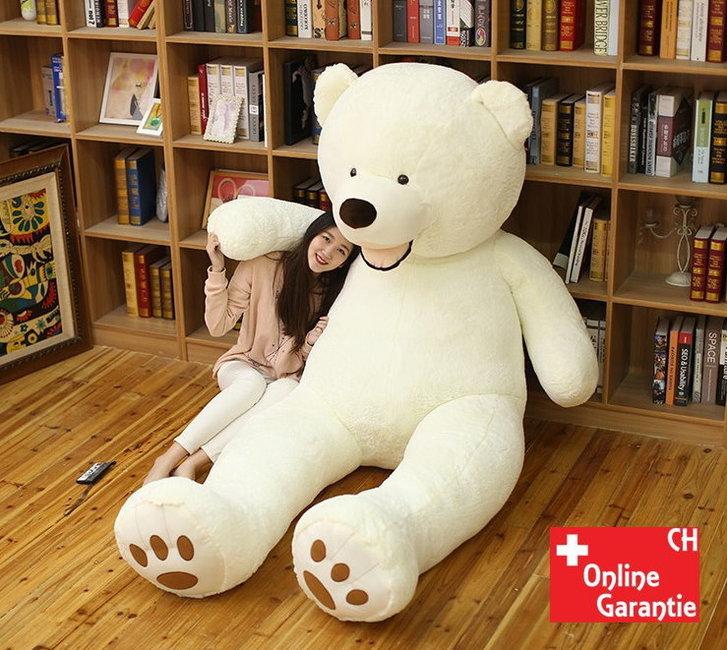 Teddybär Plüsch Bär Eis Eisbär Teddy Weiss 200cm 260cm Geschenk XXL XXXL 2.0m 2.6m Frau Freundin Girl Mädchen Weihnachten