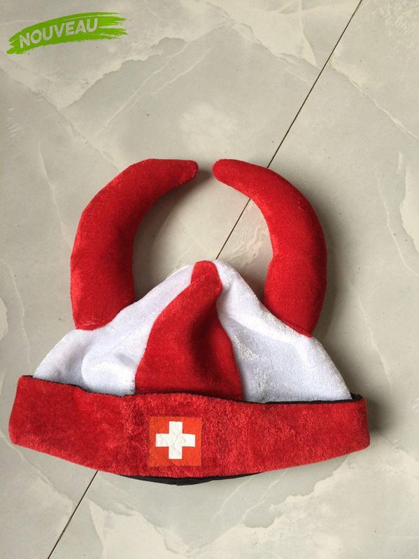 Wikinger Hut Schweiz Fan Cap Hut Mütze Fanartikel Kleidung Hopp Schwiiz Allez la Suisse Switzerland / Neu Sport & Outdoor 2