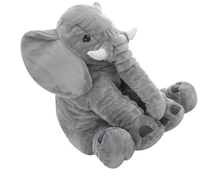 XXL Elefant Kuscheltier I 80cm Plüschtier Gross Geschenk für Baby Kinder Elefantenkissen Spielzeuge & Basteln 2