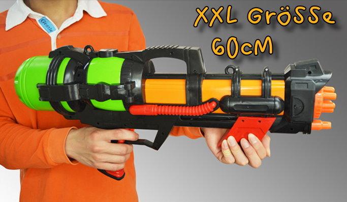 XXL Wasserpistole 60cm Wassergewehr Spritzpistole Watergun Spielzeug Kinder Sommer Openair Camping Wasserspielzeug Spielzeuge & Basteln