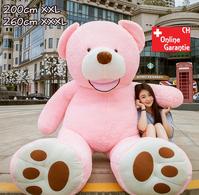 Plüsch Bär Teddybär XXL Teddy 260cm XXXL Pink Geschenk Kind Kinder Frau Freundin Rosa Weihnachten Geburtstag 200cm 260cm XXL XXXL
