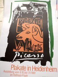 1981 Plakat Picasso Vallauris sign Schweiger