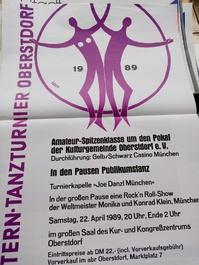 1989 Plakat Kalot Oberstdorf  Intn.Tanztunier mit Weltmeister Rockn Roll