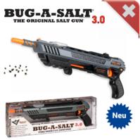 Bug-A-Salt 3.0 Salz Gewehr Pistole gegen Fliegen Mücken Sommer Salzgewehr Fliegenklatsche / Neu BLACK FLY EDITION