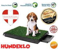 Deluxe Hunde Klo WC Hundeklo Hundewc Welpen Toilette Trainingsgerät Welpentoilette mit Behälter Stubenrein