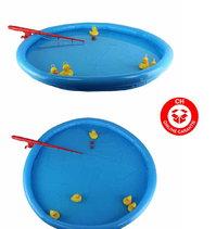 Enten Ente Angel Spiel Angelspiel Kind Kinder mit Aufblasbaren Pool und Angelrute Wasser Wasserspiel Sommer Badi