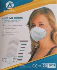FFP2 Masken mit CE 2163 Zertifikat - 100 Stück in 20er Boxen einzeln verpackt