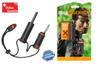 Gerber Bear Grylls Feuerstarter mit wasserdichtem Zunderlager Inklusive Notfallpfeife Survival Series Jagd Outdoor