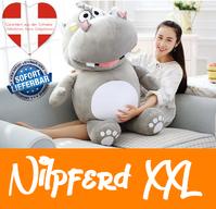 Grosses Plüsch Hippo Nilpferd Flusspferd Geschenk 120cm XXL Geschenk Kind Kinder Frau Freundin