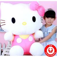 Hello Kitty Hellokitty Katze Plüsch Plüschtier XXL Plüschfigur Geschenk Mädchen Kind Kinder Kult Cat HK XXL 100cm Pink Rosa