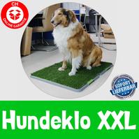Hundetoilette Hundeklo Welpen Hunde Klo Wc Toilette Kunstgras Stubenrein 68x86cm XXL Grösse Stubenrein