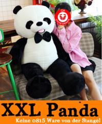 Panda XXL 150 cm gross Stofftier Plüschtier Kuscheltier Teddybär Plüsch Bär Schwarz Weiss Geschenk Kind Kinder Frau Schweiz Süss Weihnachten Geburtstag