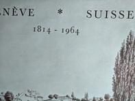 Plakat 1964  Genf Museum Rath  150 Jahrfeier Geneve CH