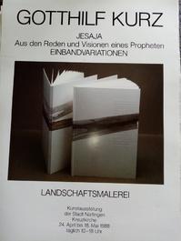 Plakat Gotthilf Kurz Nürtingen 1988