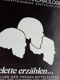Plakat zur Ausstellung 1983 Münster  Skelette Skulls