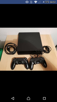 Playstation 4 Slim 1 ZB + 2 Controller