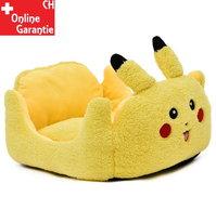 Pokémon Pikachu Katze Katzenbett Schlafplatz Hunde Hundebett Tierbett Tier Bett Schlafplatz Gelb Fanartikel Accessoire