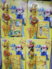 Pokémon Pikachu Pokemon Fan Armbanduhr Kinder Uhr Geldbörse Portemonnaie Geldsack