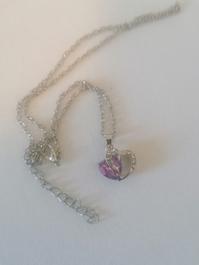 Tolle neue 825er silberne Halskette mit heranhänger und lila zirkonia